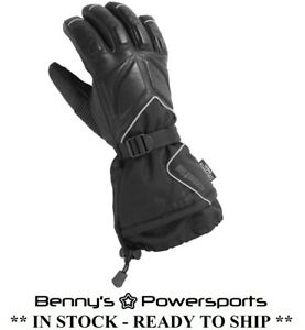 Castle X TRS Gloves Leather Textile Mens Womens Snowmobile Waterproof Windproof