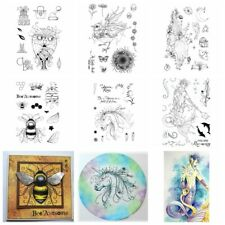 Unicorn Poseidon Owl Bee Elf Fairy Transparent Clear Silicone Stamp/Seal for DIY