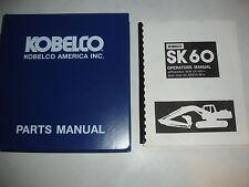Kobelco Hydraulic Excavator OPERATORS & PARTS MANUAL SK60 Shop Service Catalog