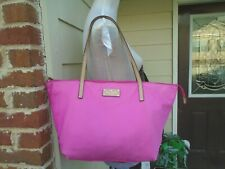 Kate Spade New York pink Nylon zip tote shoulder bag