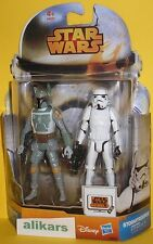 Boba Fett + Stormtrooper Double Pack Star Wars Rebels MS05 figures Episode V toy