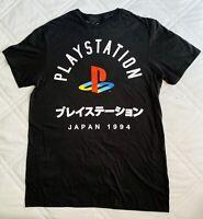 Playstation Logo Japan 1994 T Shirt Short Sleeve Black Men's Size Small
