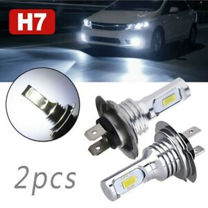 H7 LED Headlight Bulbs Lights High Low Beam 55W 8000LM 6000K DC 12-24V
