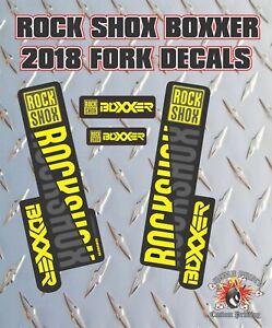 Rockshox BOXXER 2018 Style Fork Sticker Decal Graphics Enduro, DH,  yellow