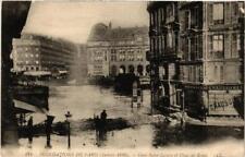 CPA PARIS Gare Saint-Lazare et Place de Rome INONDATIONS 1910 (605970)
