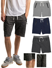 Men's Sweat Shorts Fleece Cotton Jogger Gym Shorts with Zipper Pockets Gym Short