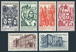 Czechoslovakia 1048-1053,MNH.Michel 1269-1074. Czech Communist Party,40,1961.