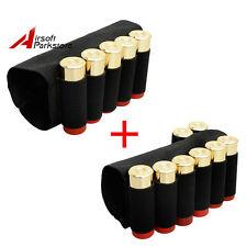 Tactical 5 Round + 8 Round Shotgun Shell Ammo Holder Pouch Black for 12/20GA