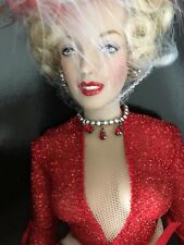 "Franklin Mint MARILYN MONROE 16""Vinyl DOLL Gentlemen Prefer Blondes Ensemble NIB"