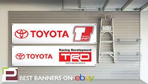 Toyota Sport TRD Workshop Garage Banner MR2, Celica, Corolla, Supra