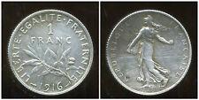 FRANCE  FRANCIA  1 franc semeuse 1916  ARGENT  SILVER