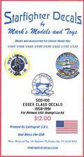 Starfighter Decals 1/500 U.S.S. ESSEX CLASS AIRCRAFT CARRIER MARKINGS 1958-1991
