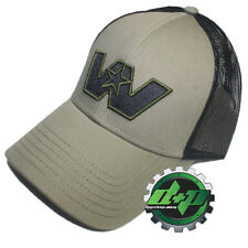 Western Star Loden green truck hat cap embroidered W Logo mesh back trucker gear
