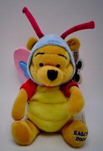 """Disney Winnie L'Ourson Pâques 2000 Papillons Peluche Jouet 8 """""""