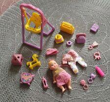 VINTAGE Mattel 1990 Barbie Krissy inkl. Schaukel, Kleidung, Spielzeug für Babys