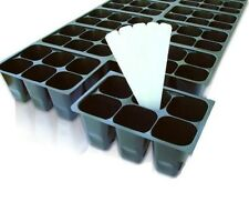Seedling SEED STARTER TRAY easy-out 144 cells + 5 Free Labels! planter clones