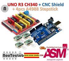 UNO R3 + CNC Shield V3 Expansion Board + 4pcs A4988 Stepper Motor Driver