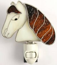 Horse Head Stained Glass Night Light