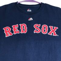 Red Sox Betts 50 MLB Baseball Men Short Sleeve T Shirt Large L Blue Red Game Day