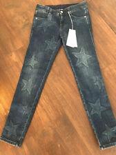 Stella Mccartney Faded Star Print Skinny Leg Jeans Made Italy S 24 Leg 28 BNWT