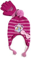 Girls Disney Princess Hat Gloves Set One Size Pink striped
