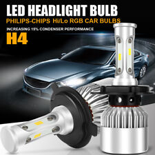 PHILIPS H4 9003 LED Hi/Low Beam Headlight Bulb Kit 6000K 1050W 157500LM White 2X