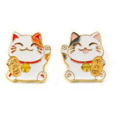 Lucky Cat Metal Enamel Pin Brooch Badge Button meme Maneki-neko beckoning cat