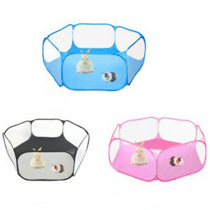 Pet Playpen Cage Portable Open Indoor Outdoor Small Animal Cage Tent Fence UK