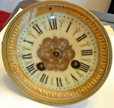 More details for s. marti french clock movement, dial, bezel, bell. working! 101mm bezel.