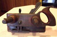 Antique J.S. BURK Wood Screw Arm Molding Plow Plane Woodworking EXC COND