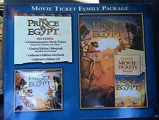 Collectors PRINCE Of EGYPT Movie Ticket Family Pack UNOPENED