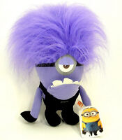 Evil Minions Plush Toy Despicable Me Purple Stuffed Animal Monster One-Eyed 10""