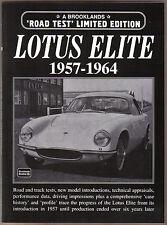 Lotus Elite 1957-1964 Brooklands Libro De Road pruebas & Track pruebas