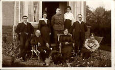 Bletchley. Family Group & Soldier at 23 Duncombe St, Bletchley. Kate & Johnny.