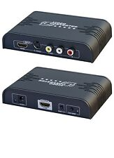 Composite RCA S-Video Audio to HDMI Converter Adapter