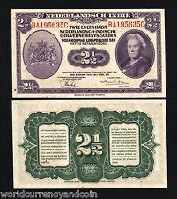 NETHERLANDS INDIES 2.1/2 GULDEN P112 1943 UNC JIM WAR INDONESIA MONEY BANK NOTE