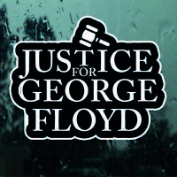 stickers autocollant Justice pour George Floyd decal