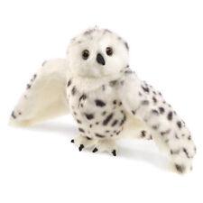 New FOLKMANIS Hand PUPPET Soft Plush Toy SNOWY OWL Stuffed Animal WHITE BIRD
