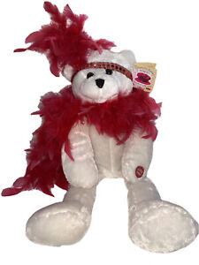 "Chantilly Lane Musicals 18"" Roxie Bear w/ Red Boa New With Tags"