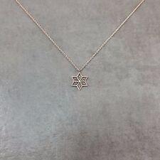 Flower Star ROSE GOLD Plated Necklace Charm Stylish Pendant Gift Box Flourishing