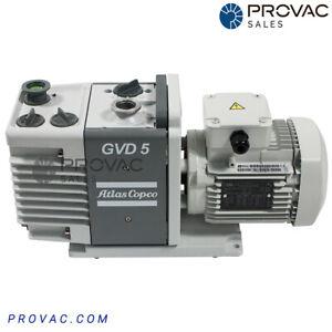 Atlas Copco GVD 5 Rotary Vane Pump, by Provac Sales, Inc.