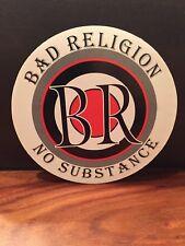 Bad Religion No Substance promo sticker