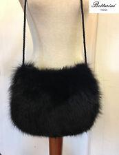 borsa in pelliccia di volpe nera fox fur bag Fuchspelz sac fourrure de renard