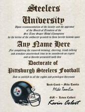 Steelers~Pittsburgh Steelers~ Nfl Man Cave~Certificate Diploma New Gift Big Ben