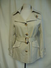 "Ladies Coat ivory, UK 10, fitted, lined, bust 38"", length 29"", smart, belt 1268"