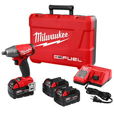 Milwaukee 2755B-22 M18 FUEL 18-Volt 1/2-Inch Compact Impact Wrench w/ Batteries