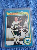 1979-80 TOPPS #175 GORDIE HOWE HARTFORD WHALERS SHARP!!! HOF Mr Hockey. 🏒🔥🏒🔥