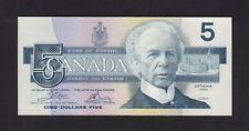 F.C. CANADA , 5 $ 1986 , S/C- ( AUNC ) , LIGERAS MARCAS EN MARGENES , P.95a2 .