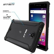 For BLU R1 HD POETIC Affinity Series Dual material Protective Bumper Case Black