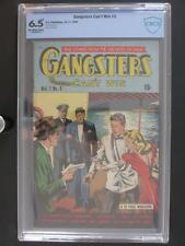 Gangsters Can't Win #5 - CBCS 6.5 FN+ D.S. 1948 - Single HIGHEST - only graded!